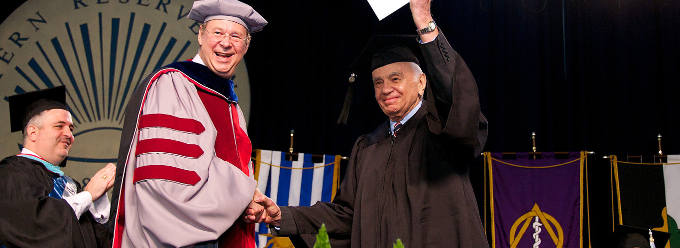 After 74 Years, Morton L. Mandel Earns Degree From Case Western Reserve University