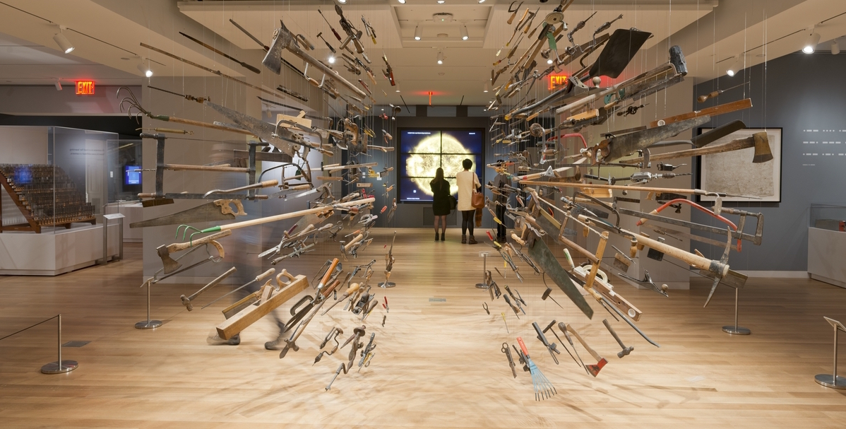 "Installation View: ""Tools: Extending Our Reach."" Photo: Matt Flynn © 2014 Cooper Hewitt, Smithsonian Design Museum"